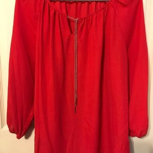 Red woman's top